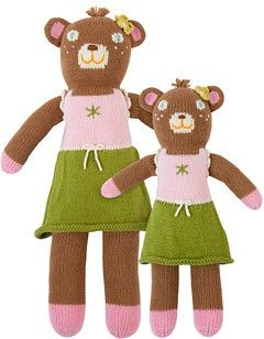 Girl bear knit doll. other cute dolls on the site.