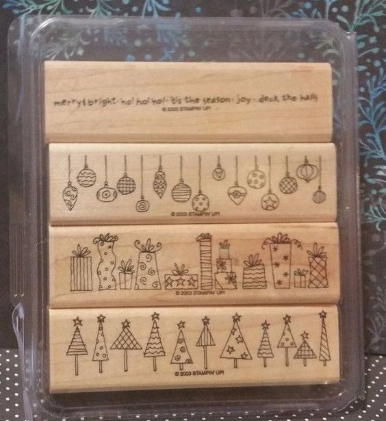 Stampin' Up! Retired CRAZY FOR CHRISTMAS WM Stamps Holiday Merry Borders in Crafts, Stamping & Embossing, Stamps | eBay