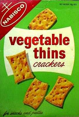 Vegetable Thins crackers  c. 1963