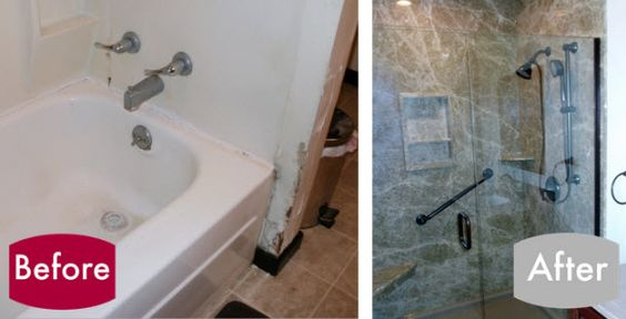 Convert Your Old Tub To A Beautiful Walk In Shower Bathroom Design Ideas