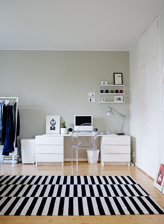 Colorful Home Office Small Spaces