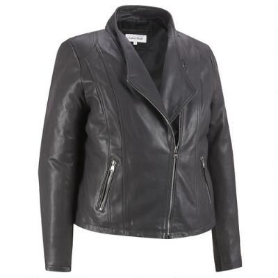 Plus Size Asymmetrical Zip Leather Hipster