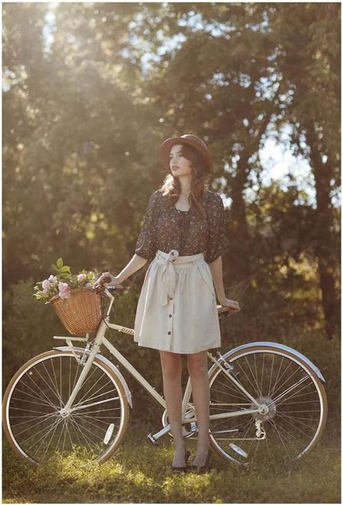 ...be able to be this girl...staring so pensively and riding my bike...that's the life!