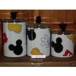 mickey mouse kitchen | eBay Image 1 Disney Mickey Mouse Scattered Parts 3 Kitchen Canisters