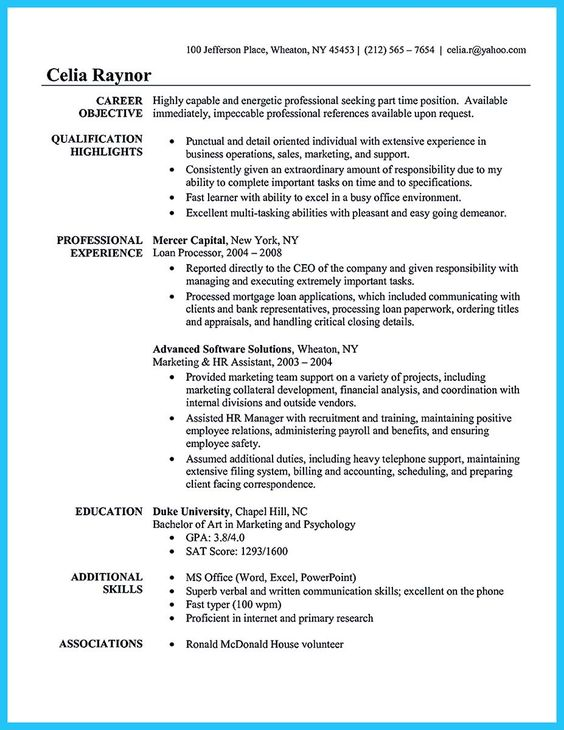 Epingle Sur Cv Assistante Administrative