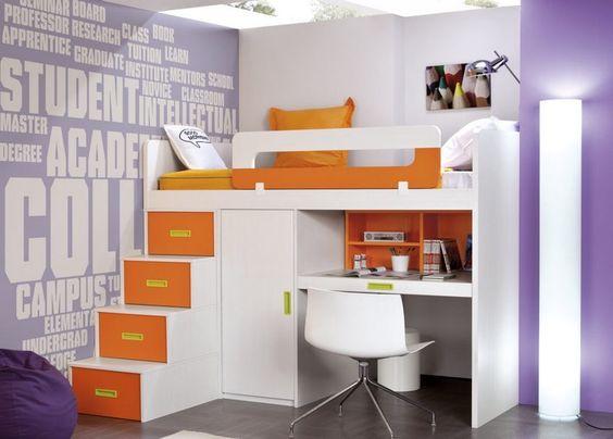 Camarotes que permiten descansar c modamente a los for Litera mueble joven