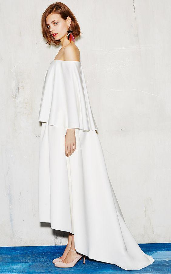 Paule Ka Off the Shoulder Dress