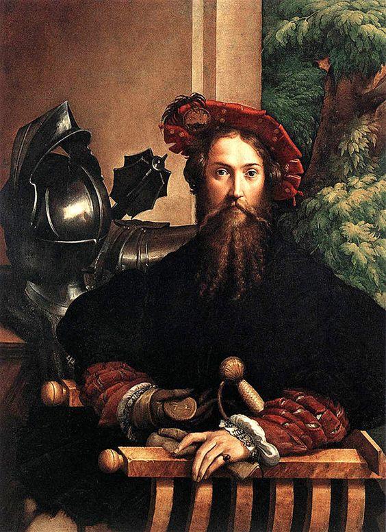 Parmigianino. Retrato de Sanvitale. Museo Capodimonte, Nápoles.