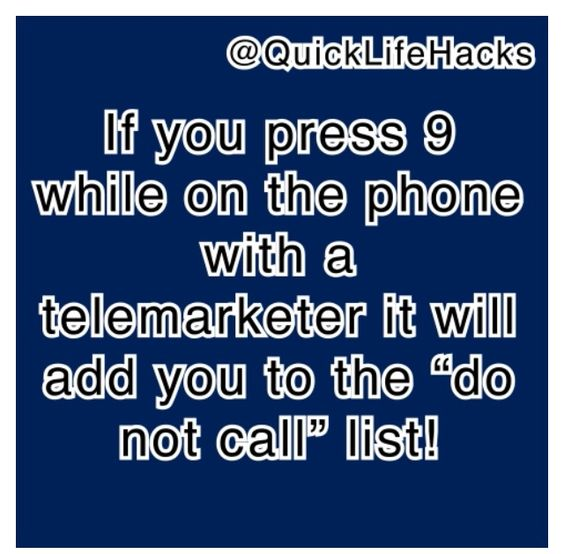 Get rid of those telemarketer calls!!!