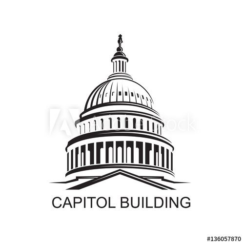 Unated States Capitol Building Icon In Washington Dc In 2021 Capitol Building Building Icon United States Capitol
