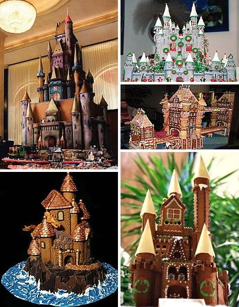 I just love gingerbread houses ~ these are awesome!