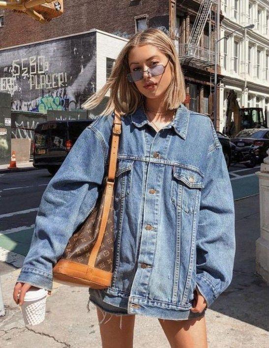 Nordstrom Jeans Ilkbahar Yaz 2019 Bayan Kot Ceket Modelleri Oversizeddenimjacket Denimjacket Kot Ceket Moda Yaratici Giysiler