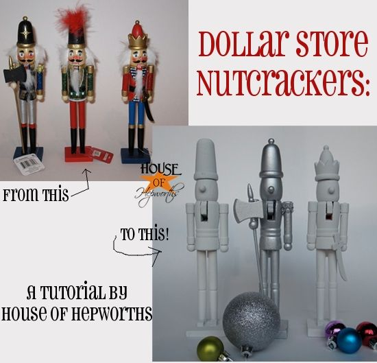make your own knock off west elm novelty nutcrackers using cheap. Black Bedroom Furniture Sets. Home Design Ideas