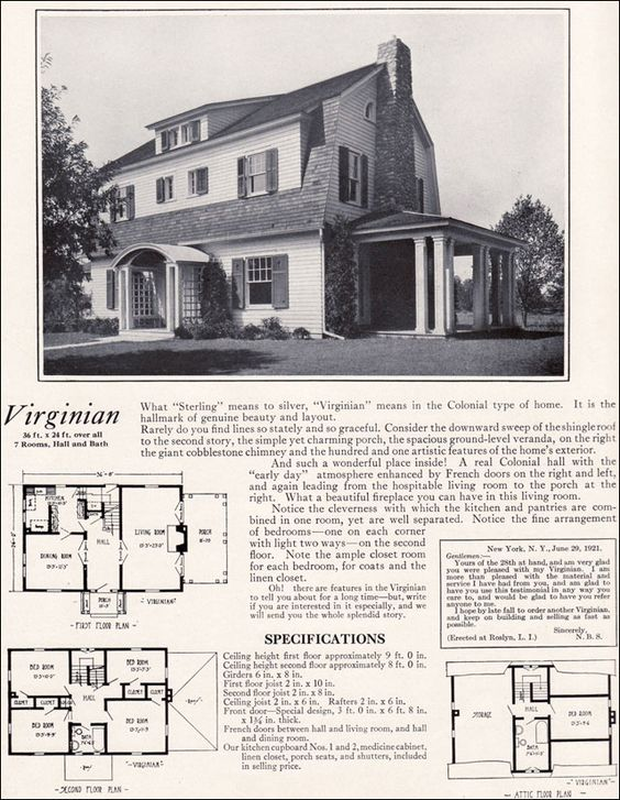 1922 virginian by bennett homes dutch colonial revival for Kit homes duplex