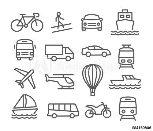 Transport Icons In 2021 Line Icon Icon Clip Art