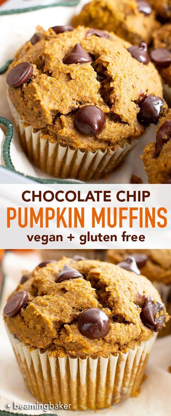 Gluten Free Pumpkin Chocolate Chip Muffins Recipe Gf This Easy