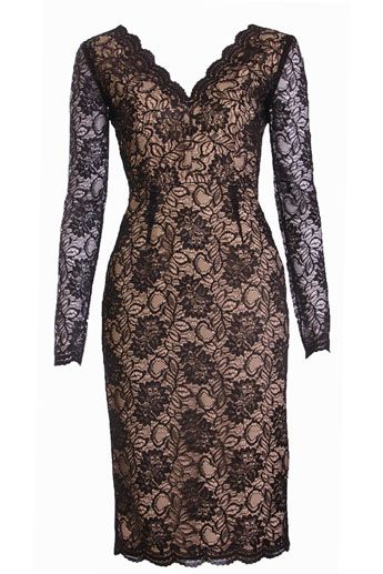 Lace Long Sleeve Dress   Aguna lace dress by Project D @ Fifi Wilson , £375