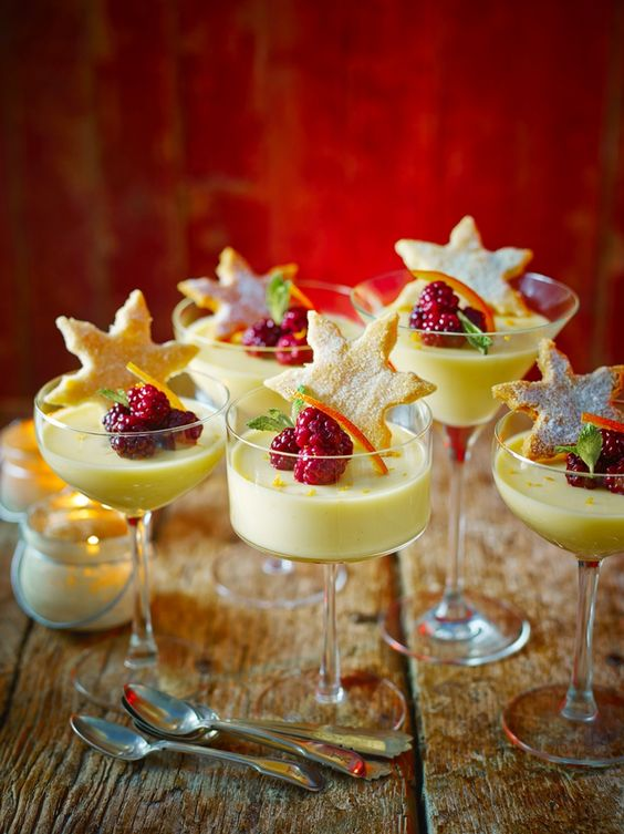 I am so in love with Jamie Oliver!  Wish he was my private chef . St Clement's posset with starry shortbread