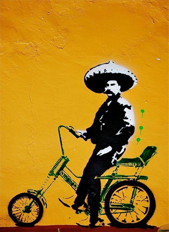 mariachi on bike