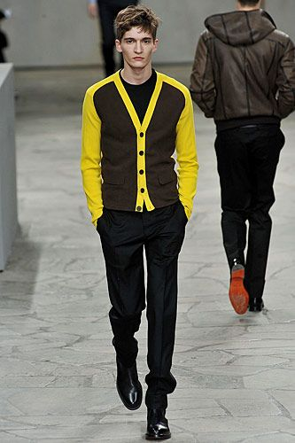 Hermes yellow cardigan for men