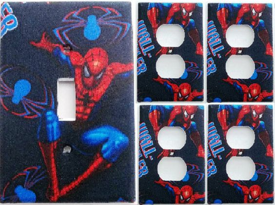 Unbreakable flexible nylon spiderman comic marvel light for Spiderman bathroom ideas