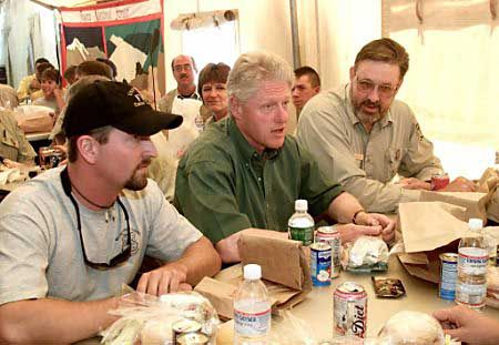 President Bill Clinton on a Payette National Forest Fire