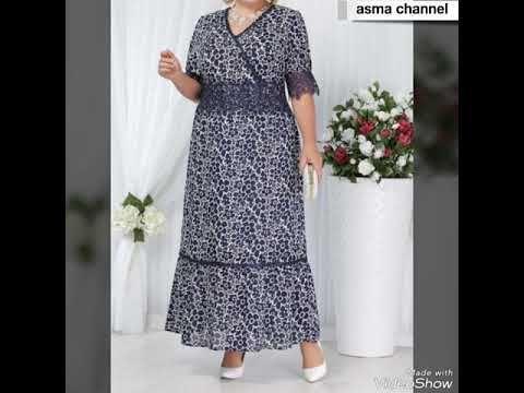 موديلات فساتين صيفية جميلة وانيقة للسمينات Youtube Long Sleeve Dress Dresses With Sleeves Maxi Dress