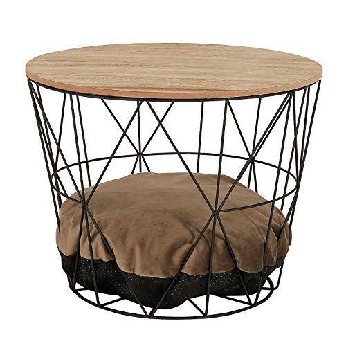 Dibea Ct00336 Table Basse Basse Avec Ouverture Pour Chat En 2020 Table Basse Table De Chevet Table D Appoint