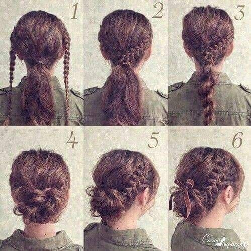 Fancy Bun With Braids Braided Hairstyles Updo Lazy Hairstyles Hair Styles