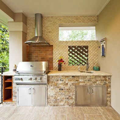 Outdoor brick bbq design pictures remodel decor and - Coleman small spaces bbq decoration ...