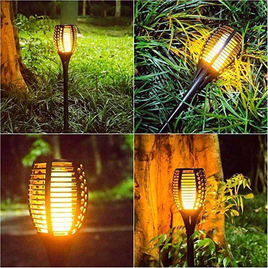 Openuye Solar Gartenleuchte Solar Garten Beleuchtung Garten Licht Solarlampe Mit Ip65 Wasserdicht Und Realistische Solarleuchten Aussenlampe Beleuchtung Garten