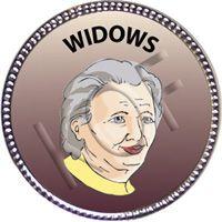 Widows, Silver Award Pin