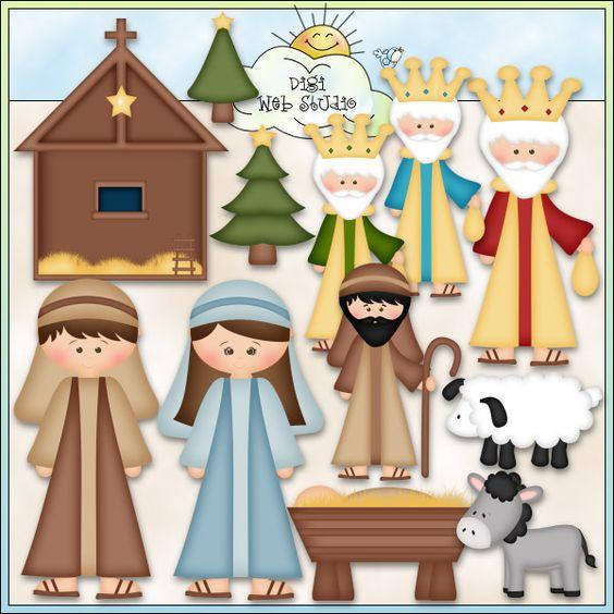 Nativity 1 - Exclusive Clip Art : Digi Web Studio, Clip Art, Printable Crafts & Digital Scrapbooking!