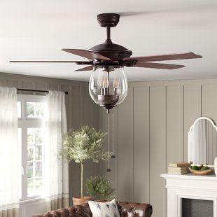 Ceiling Fans With Lights You Ll Love Wayfair Ceiling Fan Ceiling Fan With Light Living Room Ceiling Fan