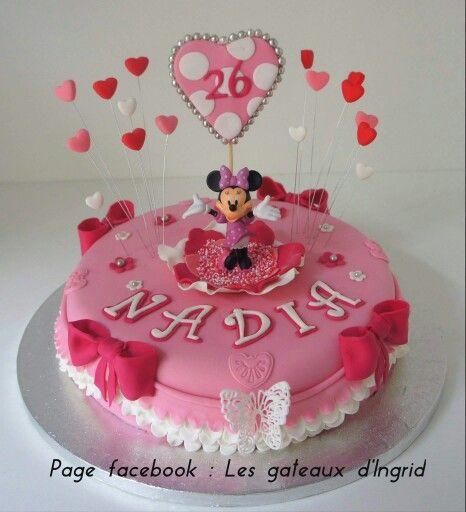 """Minnie cake Cree par : """" Les gateaux d Ingrid """" ( facebook"""