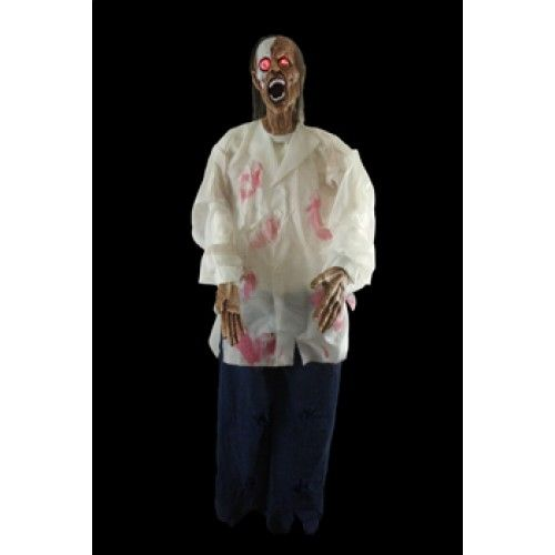 Drake Hanging Lightup Zombie Halloween Prop Yard Decoration