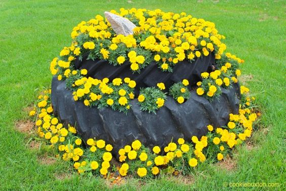 reused tractor tires make great garden beds cookie