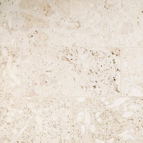 semi polished coral stone tile floor