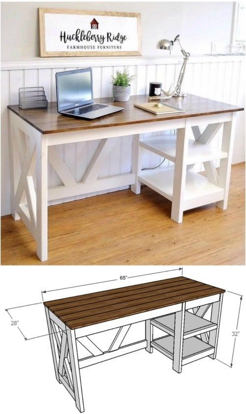 50 Decorative Diy Desk Solutions And Plans For Every Room Desk Solutions Diy Office Desk Diy Furniture Plans