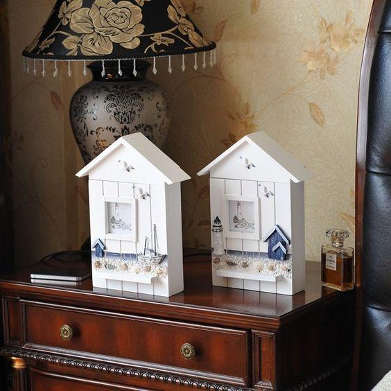 Бесплатная Доставка Новые Главная Обстановка Декоративные Стене Деревянный Ящик Для Ключей