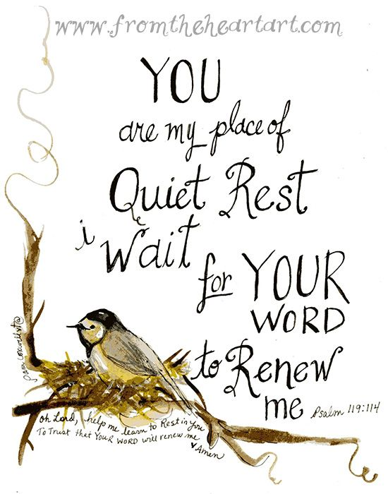 @DwightKNelson  You are my place of quiet rest--my refuge, my hiding place, and my shield. Psalm 119:114 http://www.sdahymnal.net/