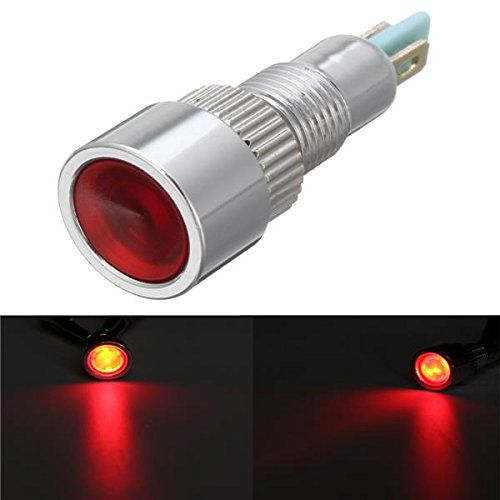 Hitommy 12v 8mm Metal Led Indicator Warning Light Lamp Pilot Panel Dashboard Led Panel Indicator Red Lamp Light Led Panel Warning Lights