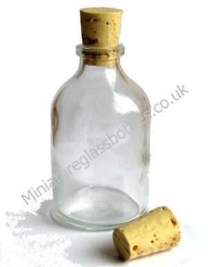 Miniature 50ml Glass Demijohn Bottles with corks for Wedding Favors or Gifts