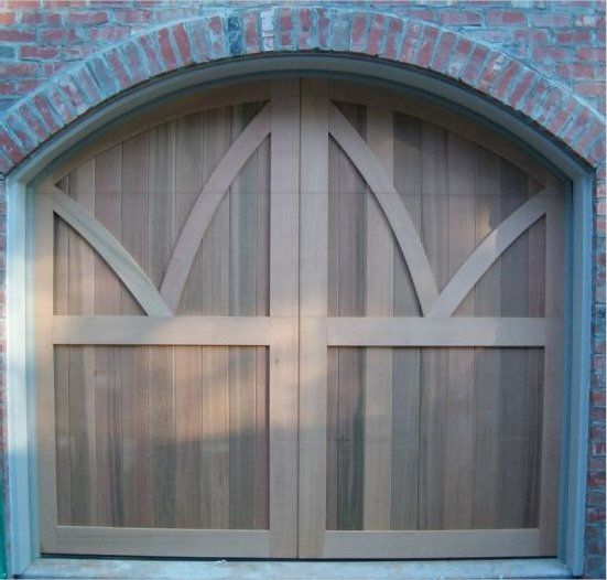Western red cedar carriage doors made by american garage for Western garage