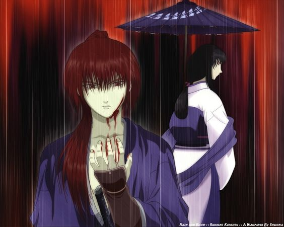 Kenshin y Tomoe