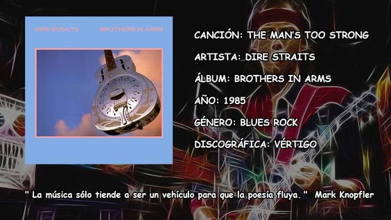 The Man's Too Strong Brothers in Arms Dire Straits Flac