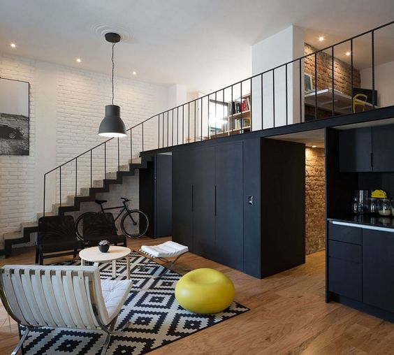 Appartement avec une d coration industrielle et chic photos chic et d cora - Cuisine industrielle loft ...