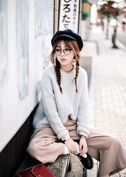 Ulzzang Girls And Glasses On Pinterest