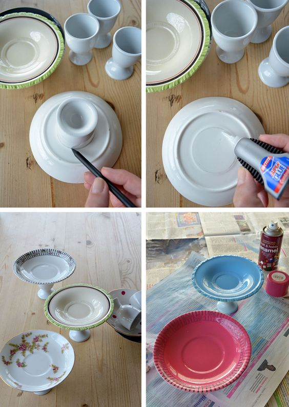Upcycle+Craft:++How+to+Make+A+Mini+Cake+Stand