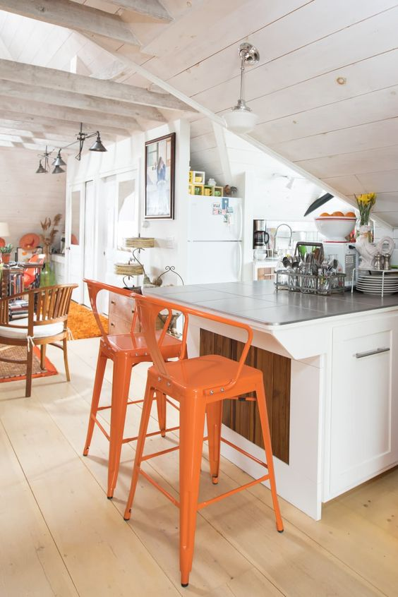 House Tour: A Colorful, Converted Attic in Concord | Apartment Therapy